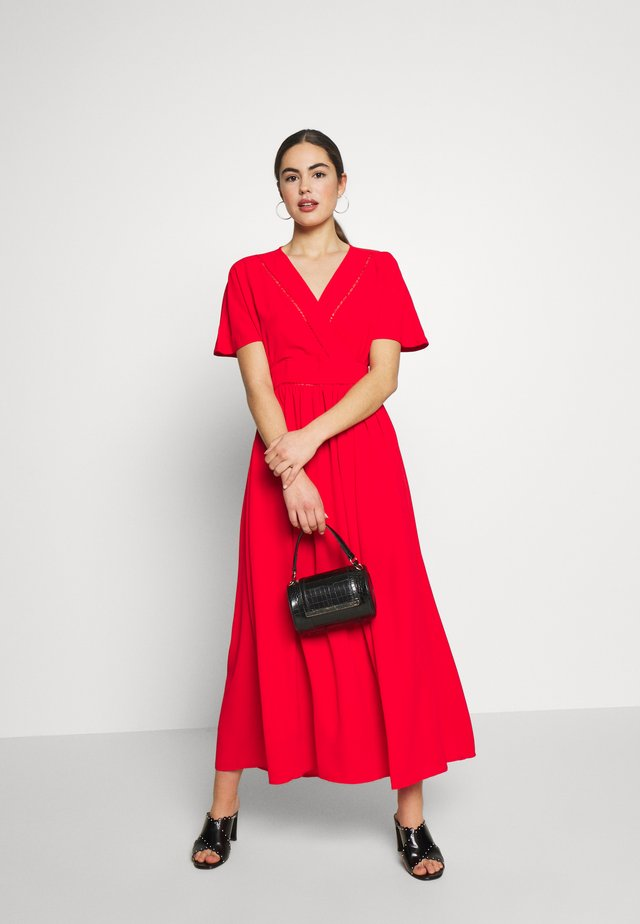 DRESS - Day dress - red coral
