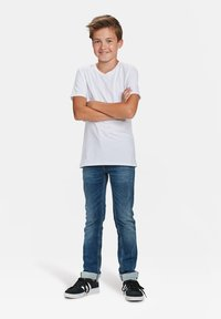 WE Fashion - WE FASHION JONGENS BASIC T-SHIRT, 2-PACK - T-shirt basic - white - 0