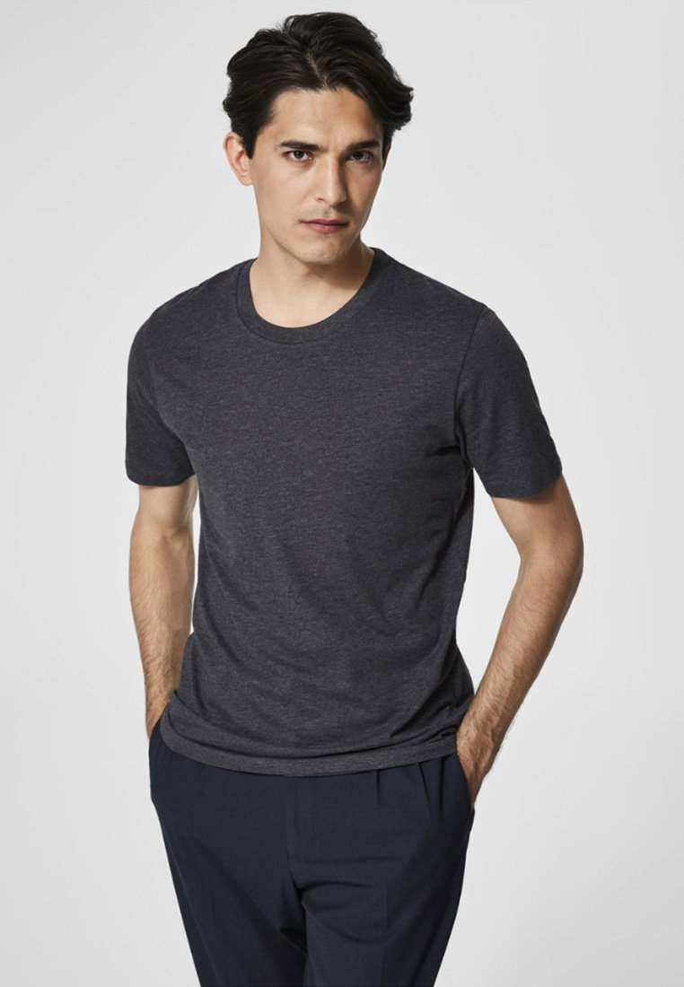 Selected Homme - SHDTHEPERFECT - T-paita - anthracite