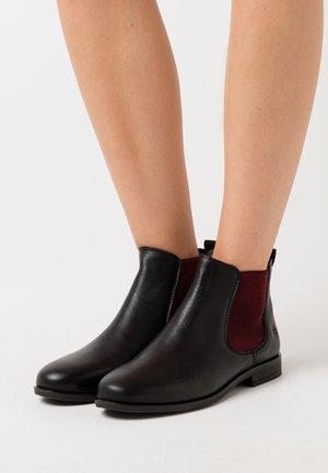MANON - Ankle boots - black/bordo