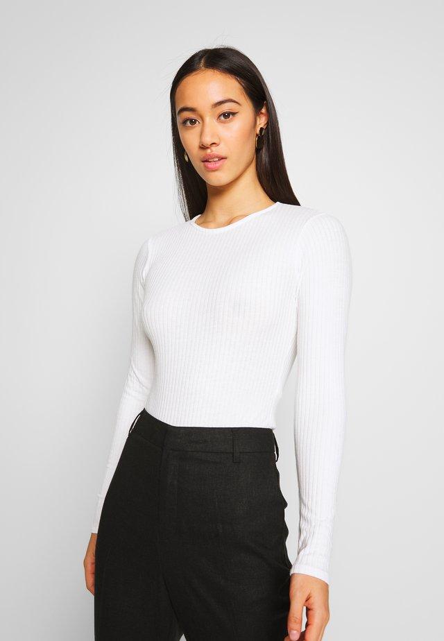 CREW NECK BODY - Bluzka z długim rękawem - off white