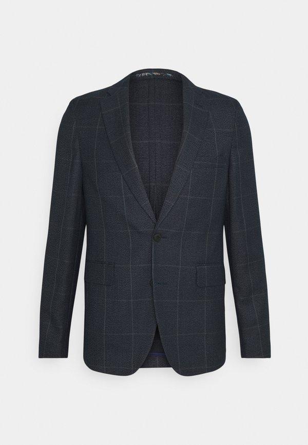 Isaac Dewhirst CHECK UNSTRUCTURED - Garnitur - dark blue/granatowy Odzież Męska TJXV