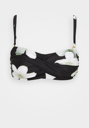 TWIST BANDEAU - Bikini top - black/white
