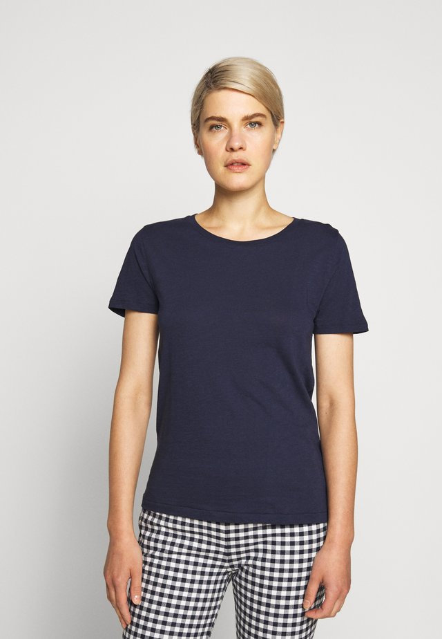 VINTAGE CREWNECK TEE - Basic T-shirt - navy