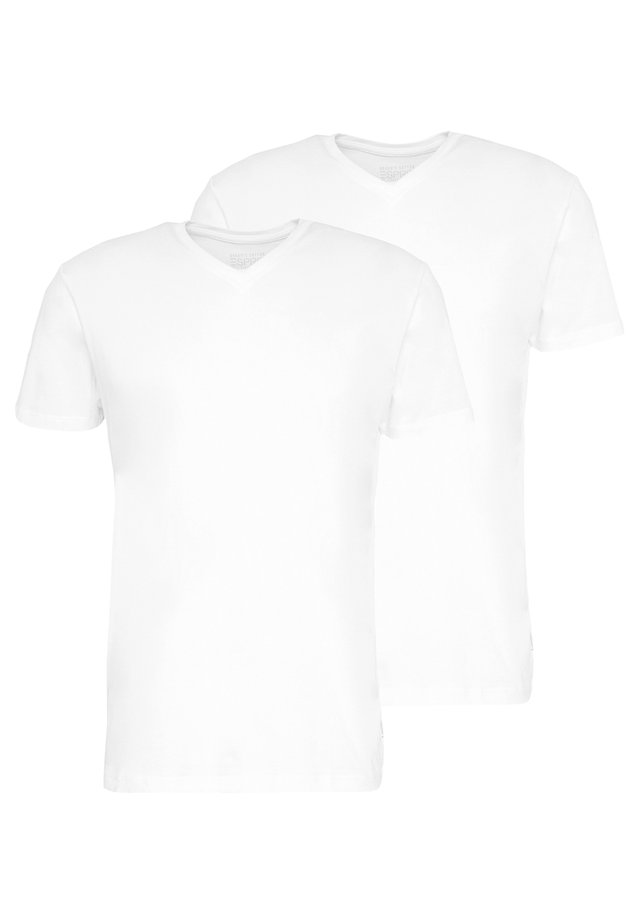 2 PACK - T-shirts - white