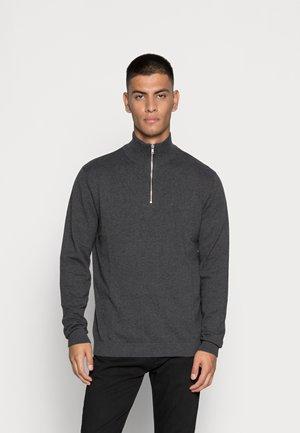 JJEBASIC - Jersey de punto - dark grey melange