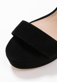 Even&Odd - LEATHER - Sandaler med høye hæler - black - 2