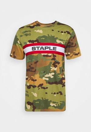 TAPE LOGO UNISEX - Print T-shirt - green