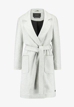 WRAP COAT WITH BELT - Krátký kabát - grey melange