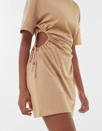 Bershka - Jersey dress - beige - 3