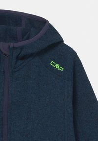 CMP - FIX HOOD UNISEX - Fleece jacket - inchiostro nero