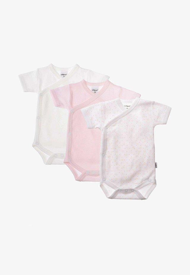 SET  3 - Body - weiß rosa gestreift  druck herz