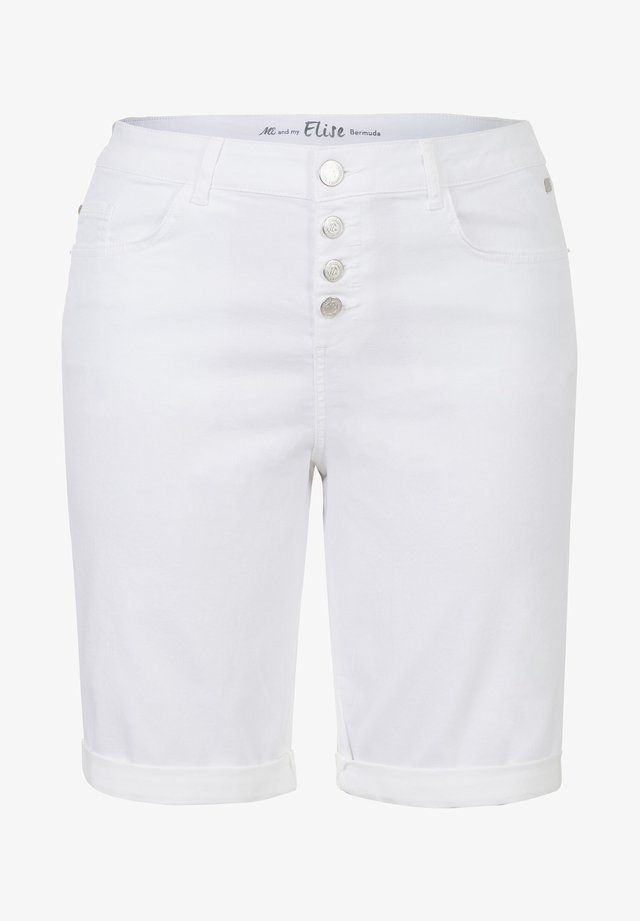ETAM PLUS BERMUDA BUTTON FLY - Shorts - white