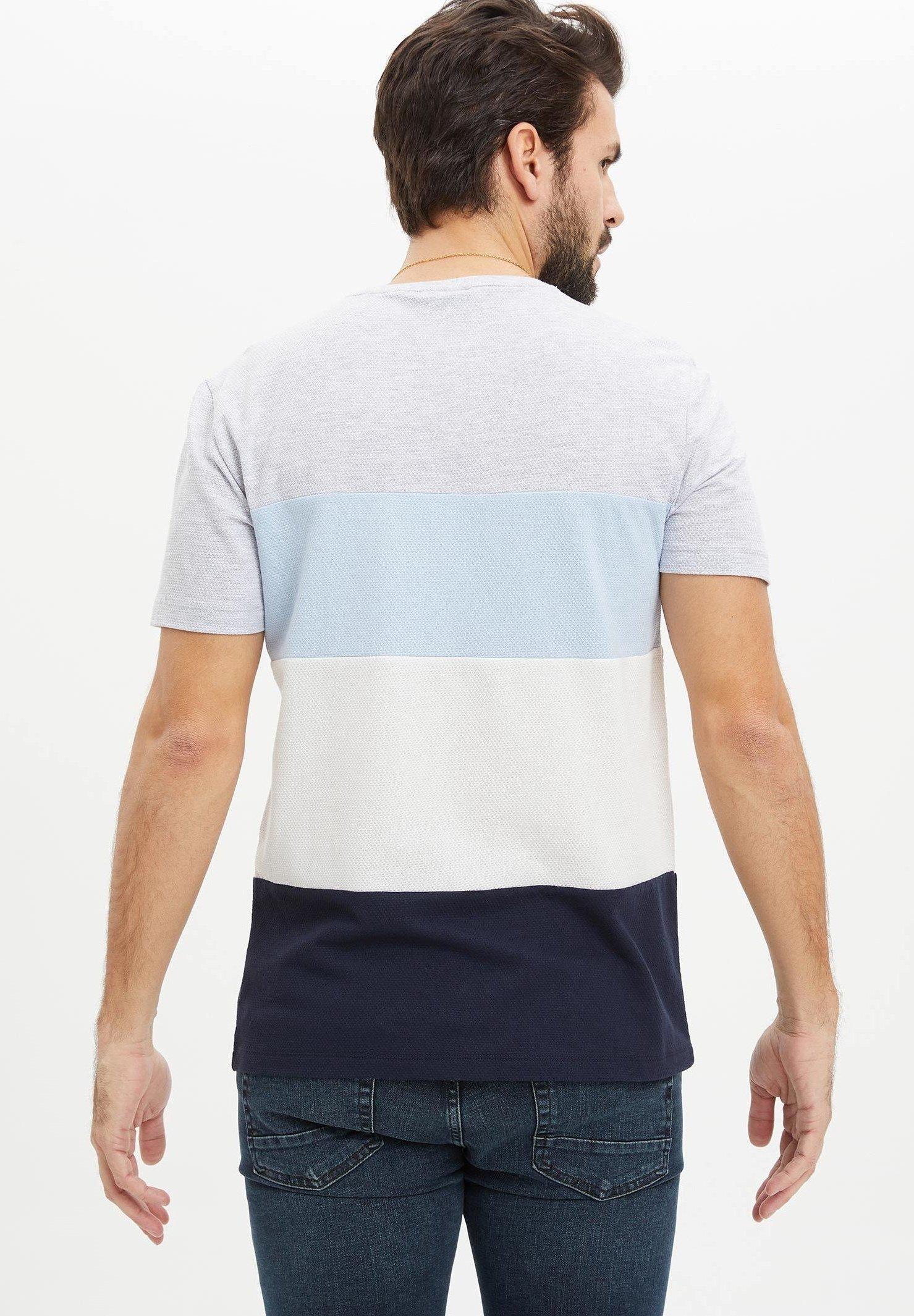 DeFacto Print T-shirt - blue SaOKW