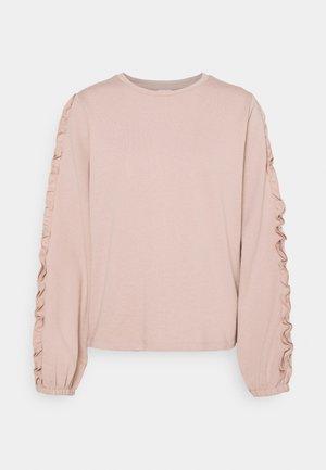 JDYPROVE FRILL - Sweatshirt - adobe rose