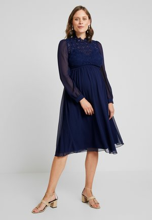 SACHA LONG SLEEVE MIDI DRESS - Koktejlové šaty / šaty na párty - navy