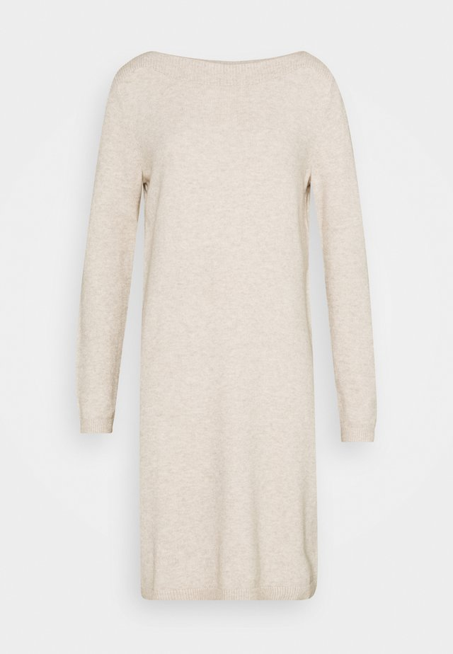 BOATNECK DRESS - Jumper dress - desert sand melange