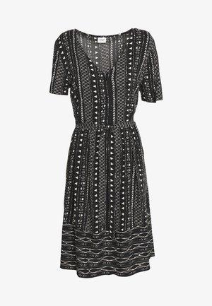 JDYTIFFANY DRESS - Shirt dress - black/sandshell