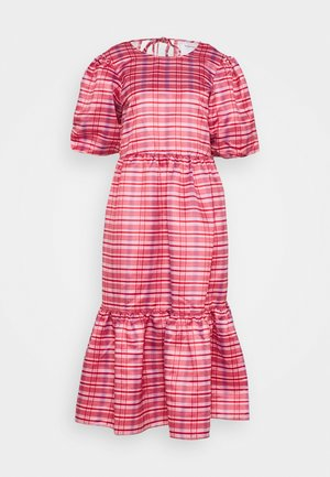 LADIES DRESS CHECK - Day dress - red/pink
