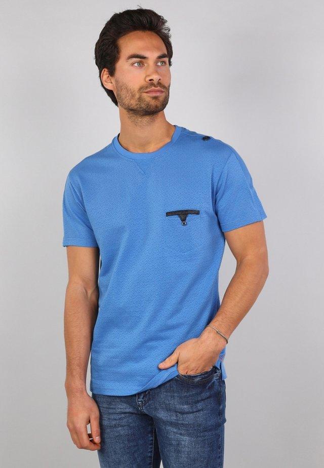 T-shirt print - niagara blue