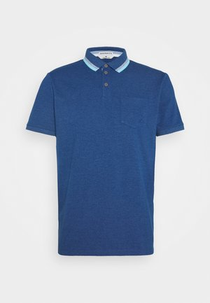 WITH TIPPINGS - Koszulka polo - after dark blue white melange