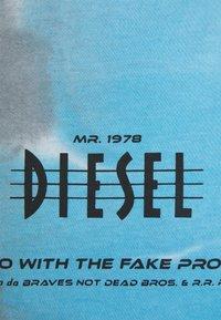 Diesel - Triko spotiskem - black/grey - 2
