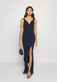 WAL G. - BARDOT MAXI DRESS - Vestido de fiesta - navy blue - 1
