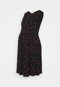 Anna Field MAMA - NURSING dress - Žerzejové šaty - black/red - 0