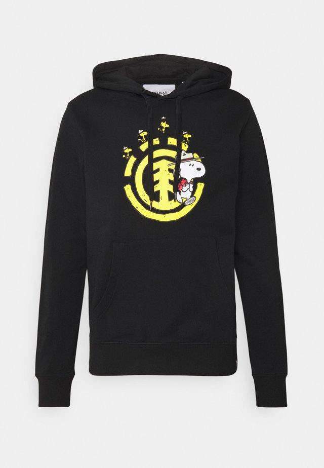 PEANUTS EMERGE HOOD - Sweatshirt - flint black