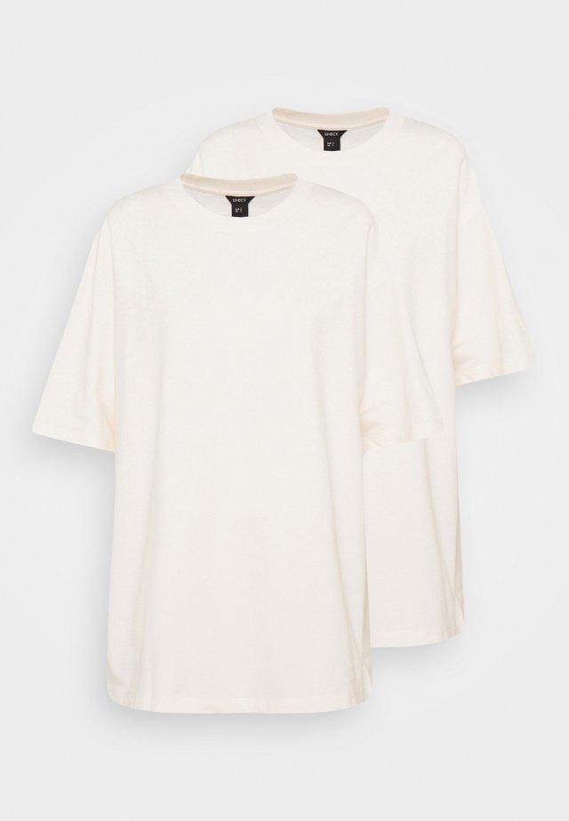 TEE MOON 2 PACK - Jednoduché triko - white