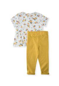Cigit - SET - Leggings - Trousers - off-white, yellow - 1