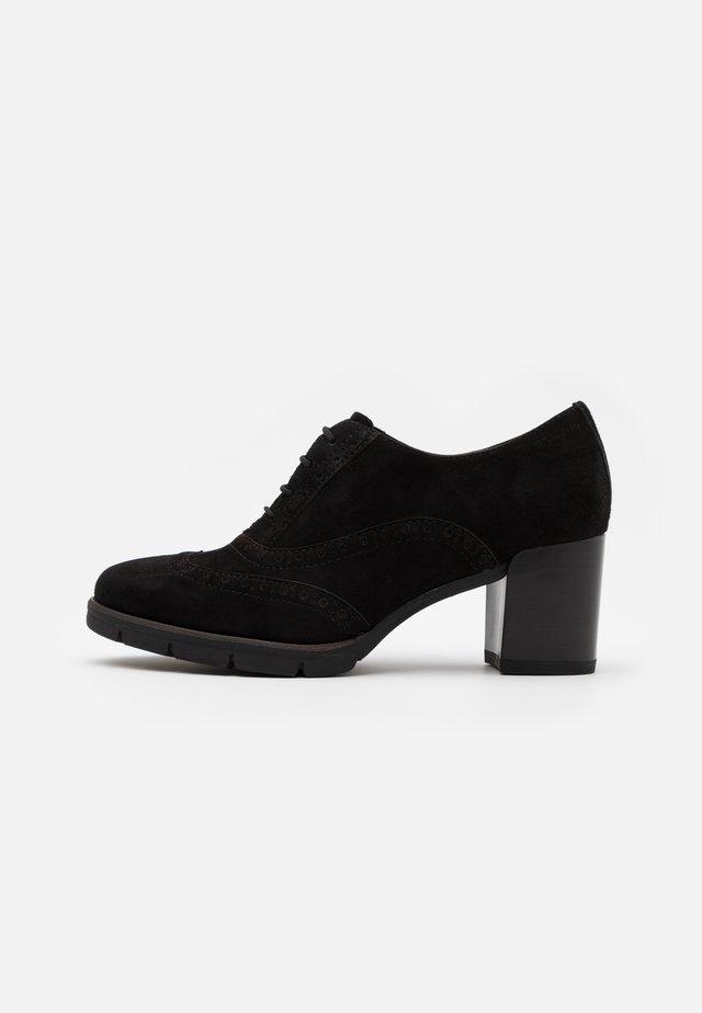 LACE UP - Korte laarzen - black