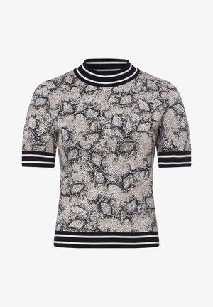 Print T-shirt - marine grau