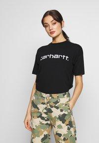 Carhartt WIP - SCRIPT - T-shirt imprimé - black/white - 0