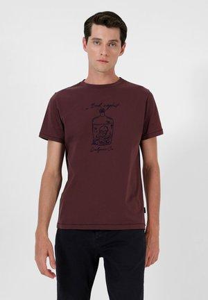 STITCH  - Print T-shirt - burgundy