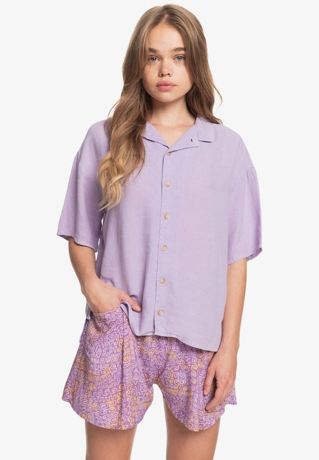 SURF CAMP - Button-down blouse - pastel lilac