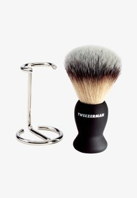 Tweezerman - GEAR SHAVE BRUSH AND STAND - Barberbørste - - - 0