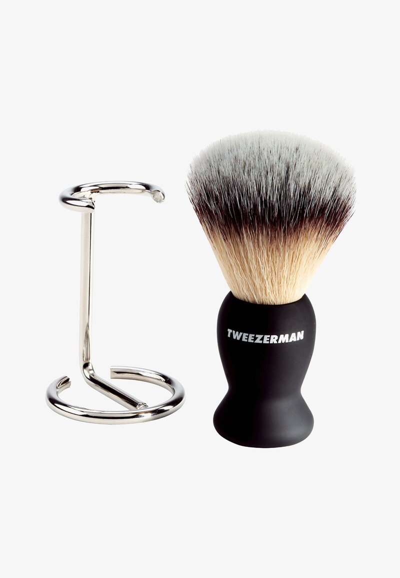 Tweezerman - GEAR SHAVE BRUSH AND STAND - Barberbørste - -
