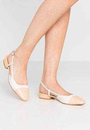 DHAPOU - Slingback ballet pumps - beige/ecru