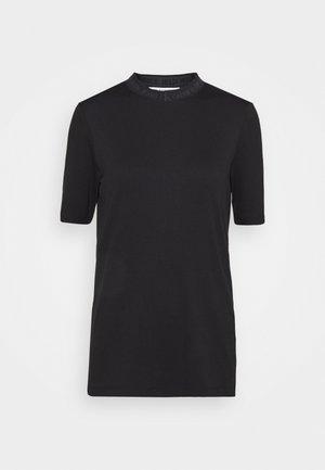 LOGO TRIM TEE - Print T-shirt - black