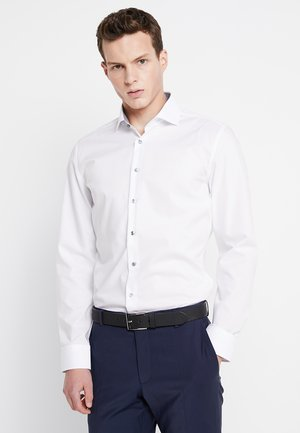 SLIM SPREAD PATCH - Formal shirt - weiß/grau