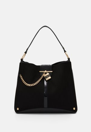 OVERSIZED PADLOCK SLOUCH - Tote bag - black