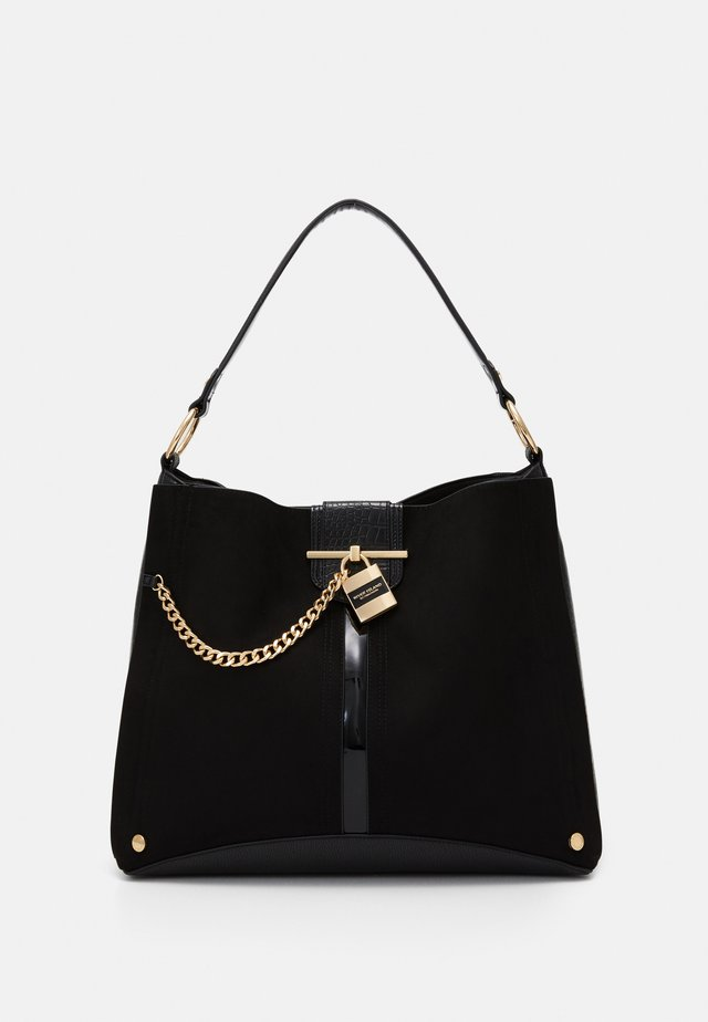 OVERSIZED PADLOCK SLOUCH - Shopper - black