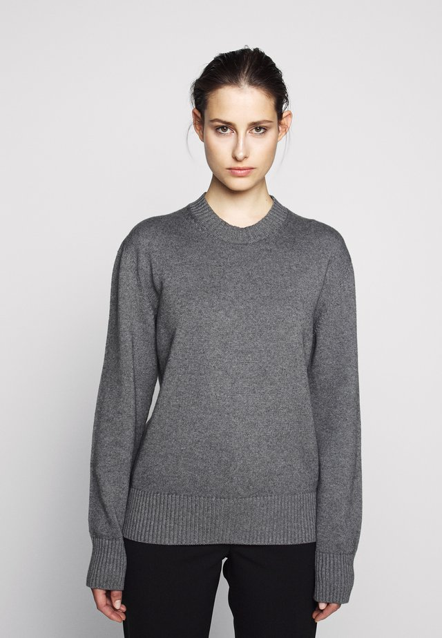 CREW NECK - Strickpullover - medium grey