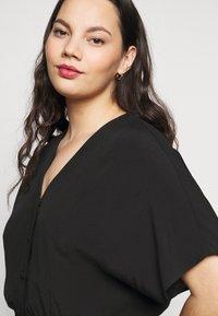 Selected Femme Curve - SLFENNA DRESS - Vapaa-ajan mekko - black - 5