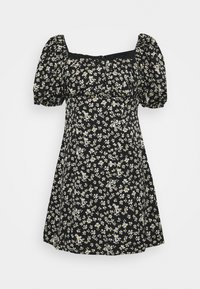 RUCHED BUST DRESS DAISY - Day dress - black
