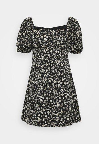 RUCHED BUST DRESS DAISY - Denní šaty - black