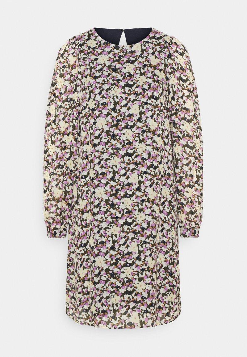 Marc O'Polo - DRESS EASY SHORT STYLE ROUND NECK - Denní šaty - multi