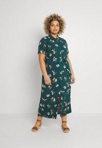 Vero Moda Curve - VMSIMPLY EASY LONG - Shirt dress - sea moss - 0