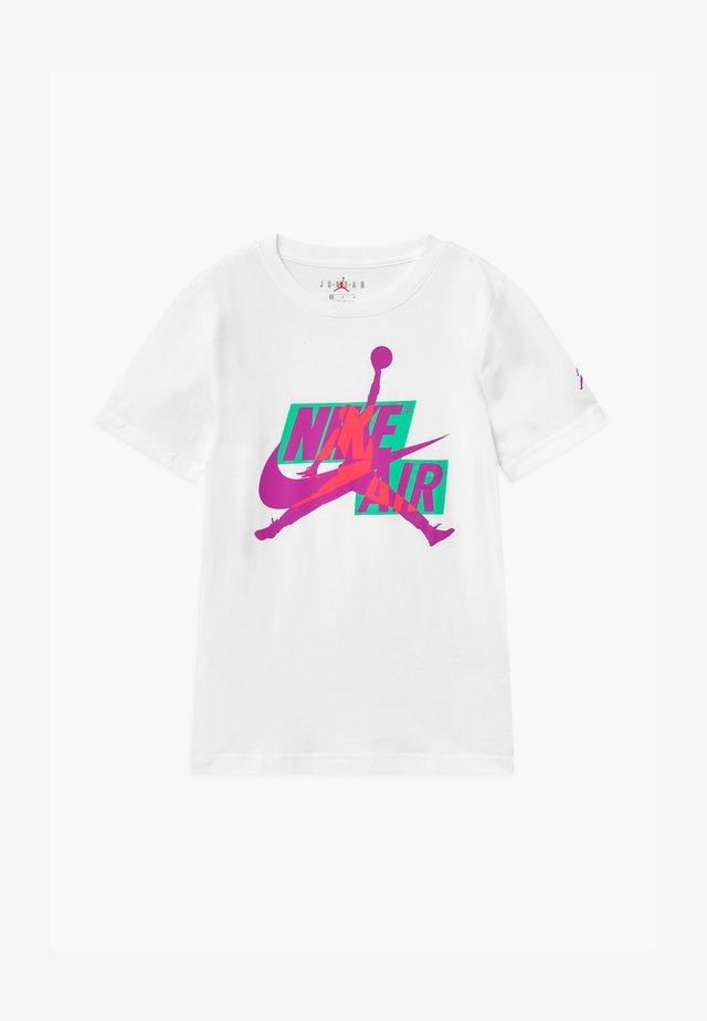 JUMPMAN CLASSICS CREW - Triko s potiskem - white/flash crimson